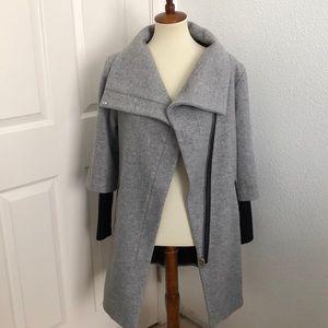 Gray Zip Pea Coat